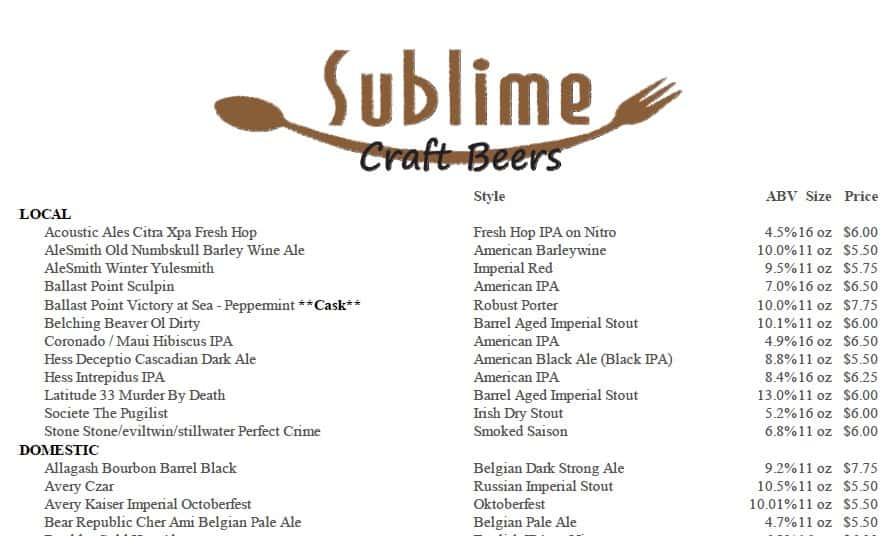 Highlight Local Craft Beer on Your Menu – Beer Menu