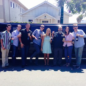 TapHunter team limo photo