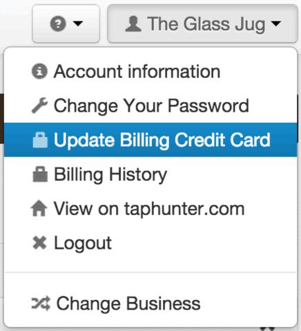 update billing taphunter