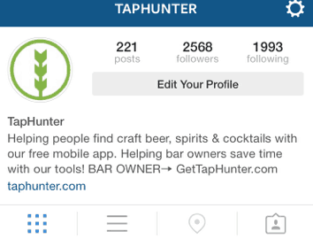 Instagram Bio TapHunter