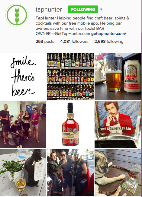Instagram Theme TapHunter