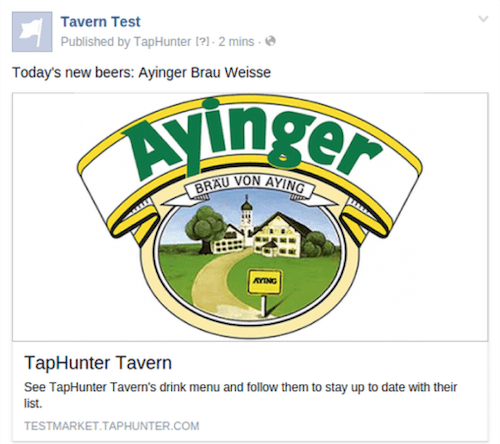 Feature 5 FB post ex. TapHunter
