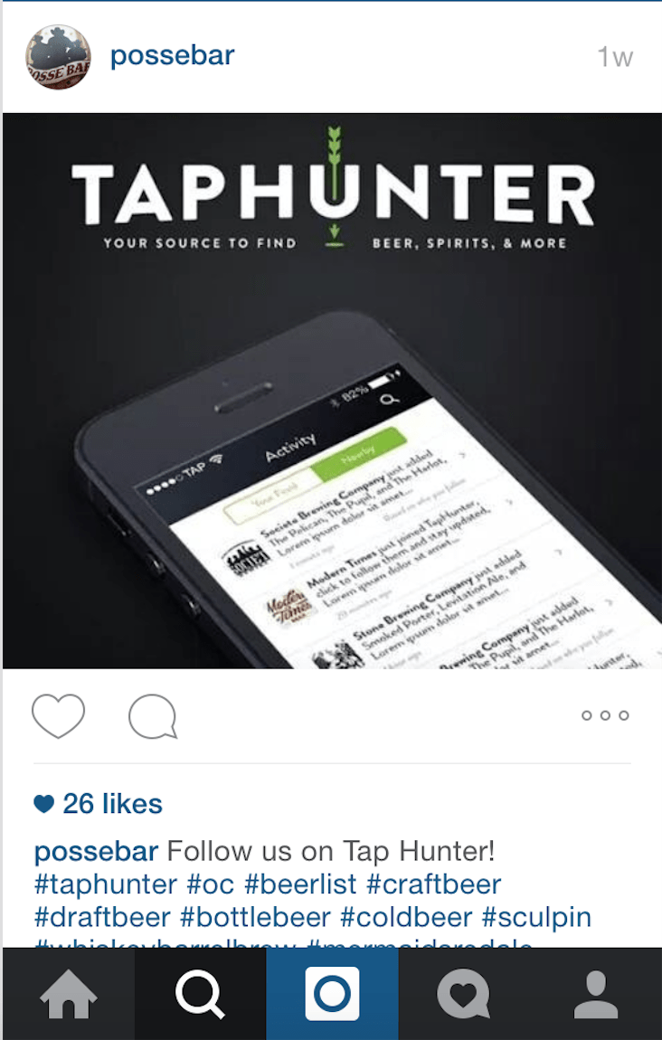 TapHunter, instagram, customer loyalty