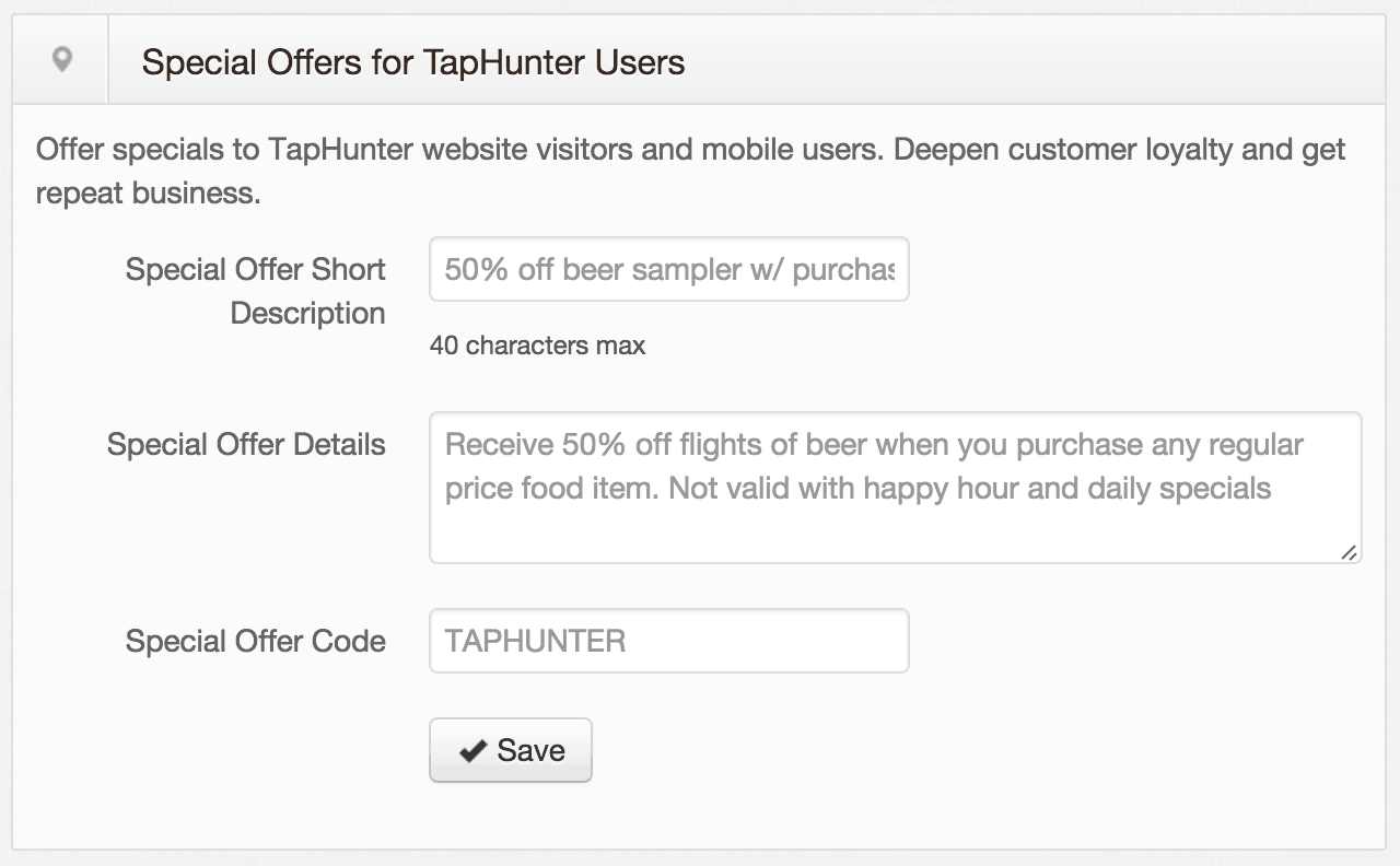TH offers TapHunter