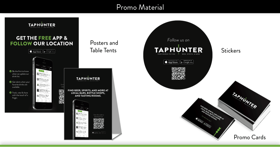 promo material taphunter