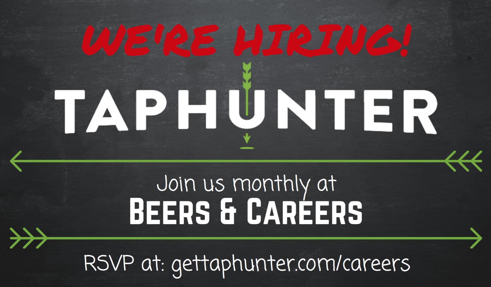 Beers & Careers TapHunter Hiring