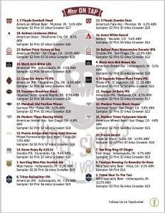 3 skulls beer list