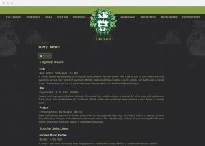 green man website beer list