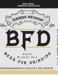 Sierra Nevada BFD Label